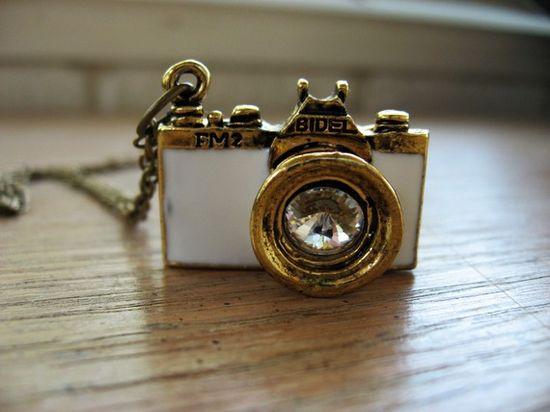Vintage Camera Necklace - $20.99
