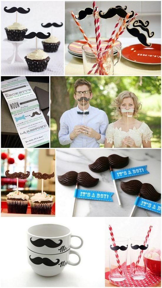 2012 Wedding Trends: #Mustache #Wedding Decor: Hot for 2012