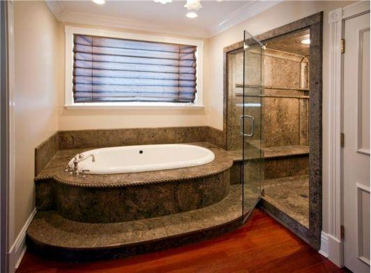 Stone bathroom idea.... love this bathrm