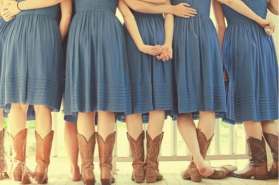 cowboy boot bridesmaids