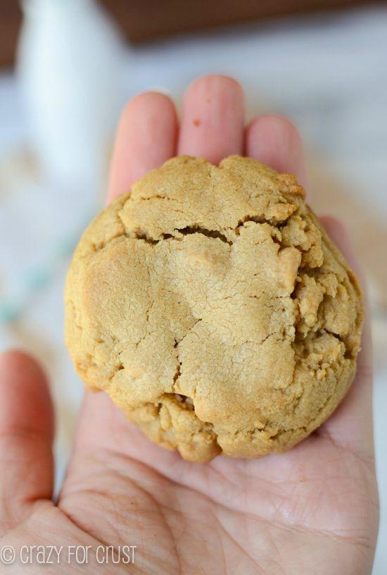 BIG Peanut Butter Cookies by crazyforcrust.com