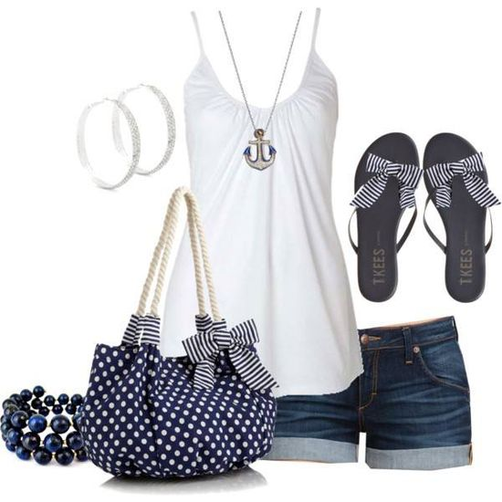 Nice summer outfit!! Loving Navy this summer!!!
