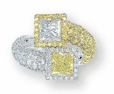 yellow diamond ring Harry Winston Christie's