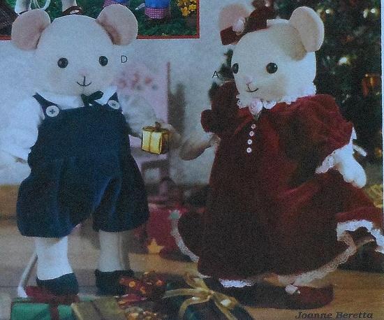 Christmas Mice Dolls Sewing Pattern