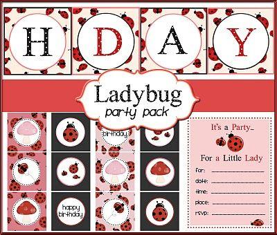 Ladybug Party Printables