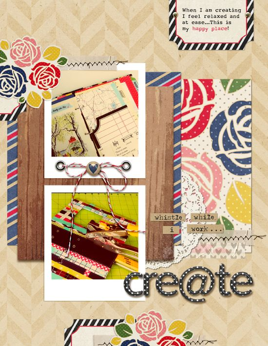 Ideas for Using Oversized Floral Patterns on Scrapbook Pages
