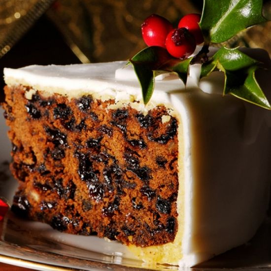 Marzipan Frosted Christmas Cake