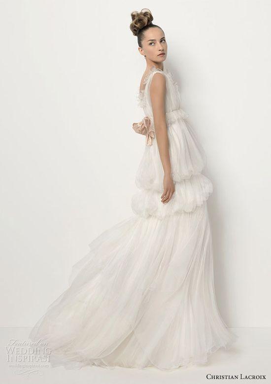 Christian Lacroix 2011 Mariée for Rosa Clará wedding dress - TAPIZ Organza silk gown