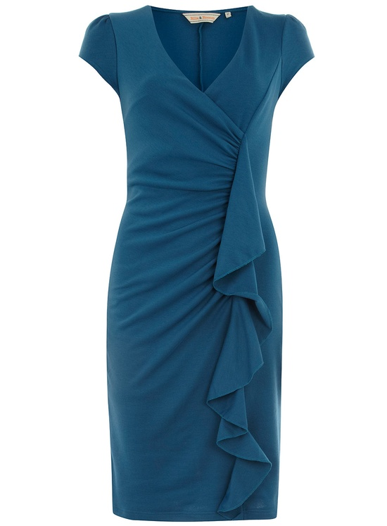Blue Ruffle Ponte Dress - Dorothy Perkins £29.50