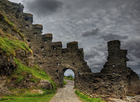 Tintagel Castle ruins, England (where it is believed the legendary King Arthur was born)