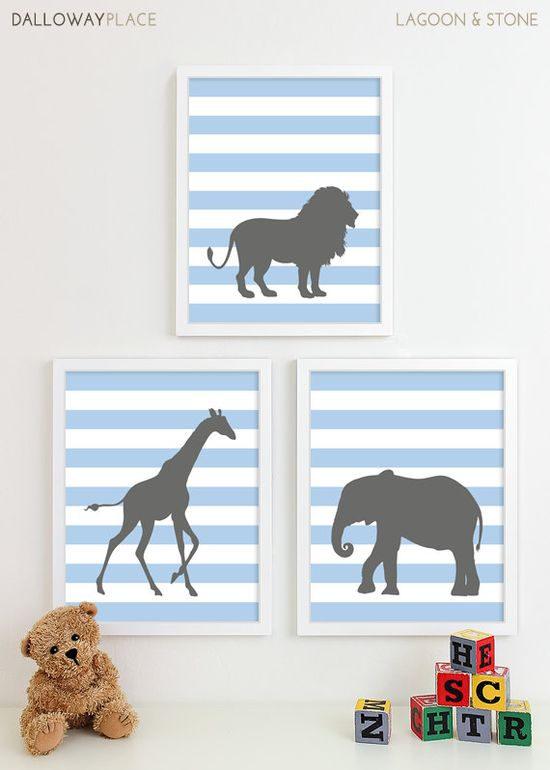 Animal prints. These would be cute with an anchor, sail boat and a whale. For future baby room