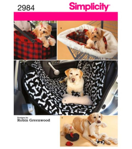 Simplicity Pattern 2984-Travel Accessories For Dogs-One Size