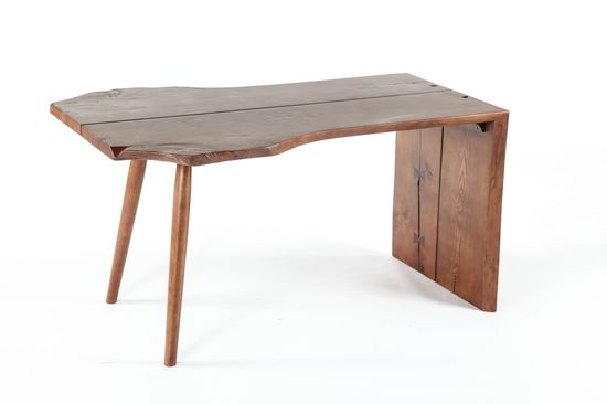 Wooden Folding Designed Office Desk. What if the desks were drop down? Latched to the wall except when needed.