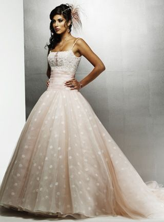 polka dotted wedding dressed