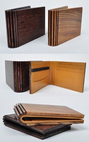 maison martin margiela wooden wallet!