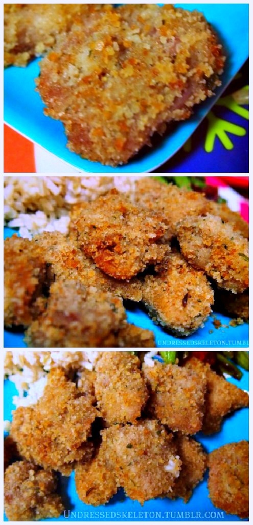 Healthy Baked Whole Grain Chicken Nuggets
