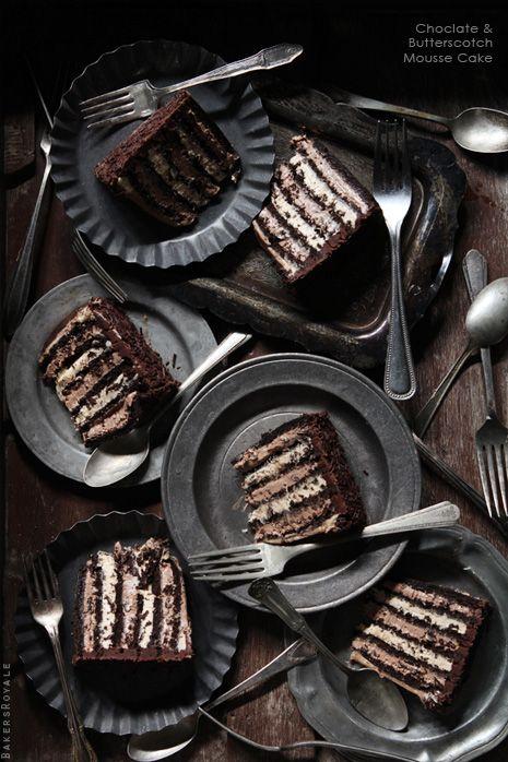 chocolate & butterscotch mOusse cake  -?-