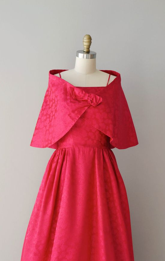 1960s dress / vintage 60s maxi dress / Crushed Raspberries gown