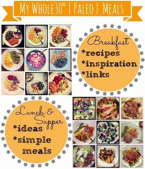 Whole30 {Paleo} Meal Ideas