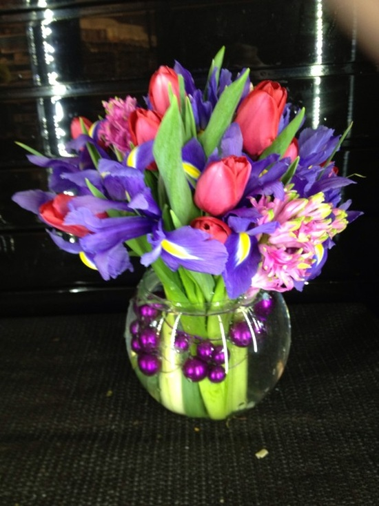 Flower arrangement spring flowers