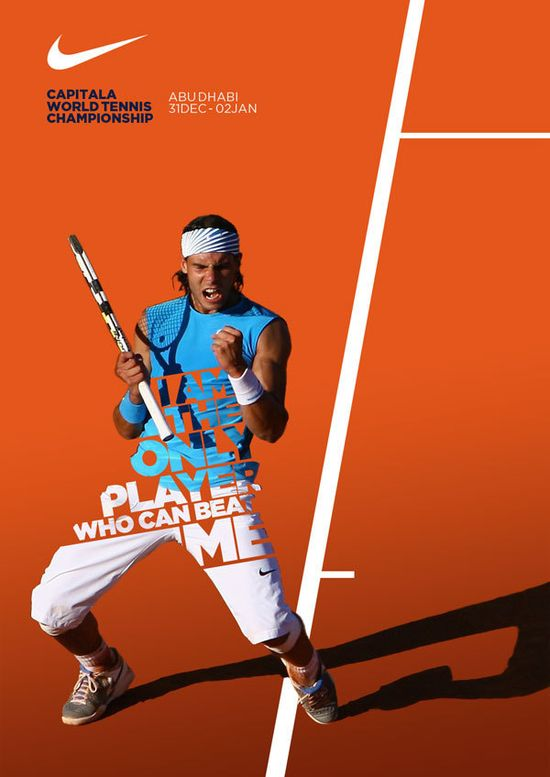 #Nike Tennis - new posters by Leo Rosa Borges, via #Behance #ad #print