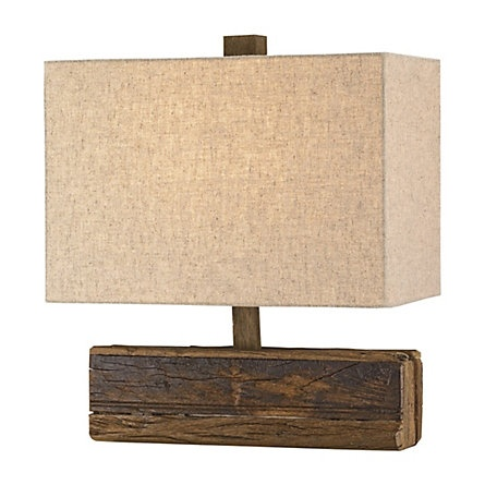 weathered wood lamp
