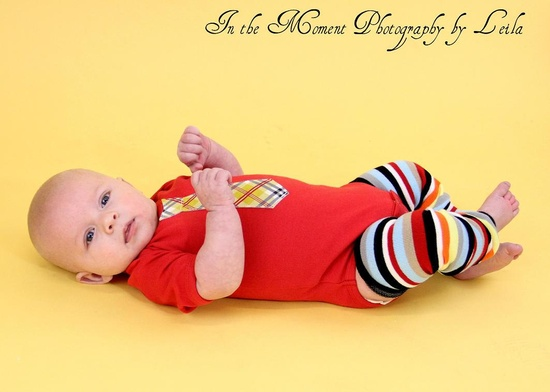 Red, Plaid Baby Boy Tie Onesie and matching leg warmers - children, baby boy clothing 0-3, 3-6, 6-12 or 12-18 months  long or short sleeves. $22.50, via Etsy.