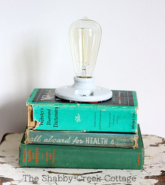 A reading light gets literal with this book lamp.