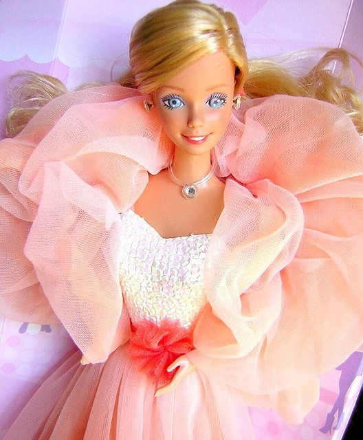 PEACHES 'N CREAM BARBIE 1984 by rod_collection, via Flickr