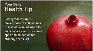 Your Daily Health Tip. #pomegranates paleoaholic.com/