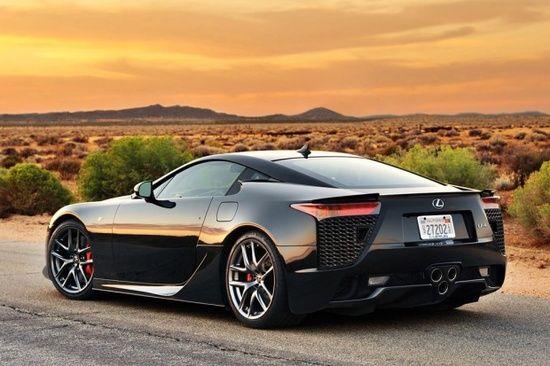 Black Lexus LFA @ sunset #luxury sports cars #ferrari vs lamborghini #sport cars #customized cars #celebritys sport cars
