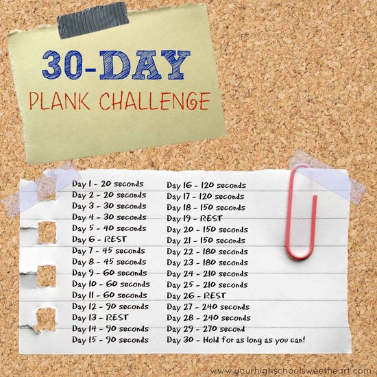 30-Day Plank Challenge ... in 30 Words