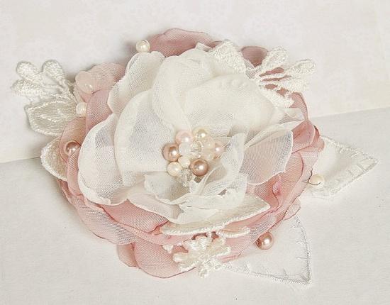 Blush Pink Bridal Hair Accessory #Bridal #Hair #Wedding by FancieStrands,