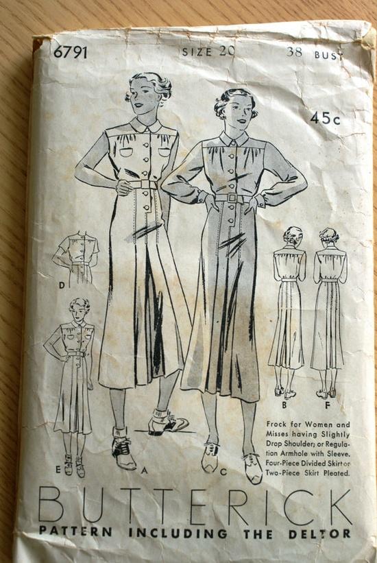 Vintage Butterick 1940s Dress Pattern by MyMomsStuff on Etsy, $25.00