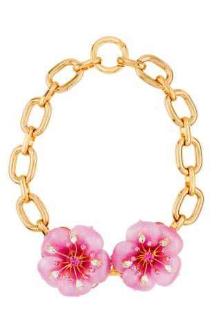 Just what your jewelry box needs: A springtime statement necklace (Miu Miu)