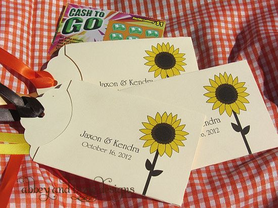 Sunflower Favors by abbey and izzie designs