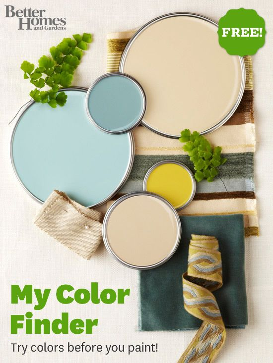 Try new color schemes before you paint with My Color Finder! Try it here: www.bhg.com/...