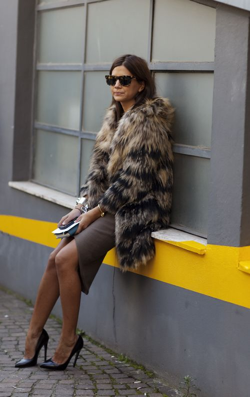 Fur amps the everyday outfit