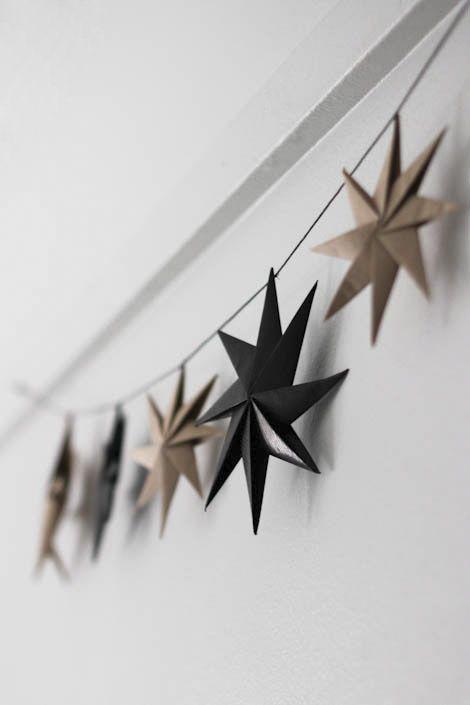 Paper star Christmas decor