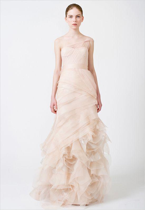 light pink Vera Wang Dress