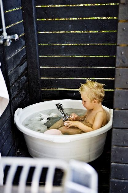 An outdoor bath