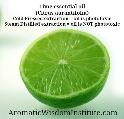 Lime essential oil and photo toxicity
