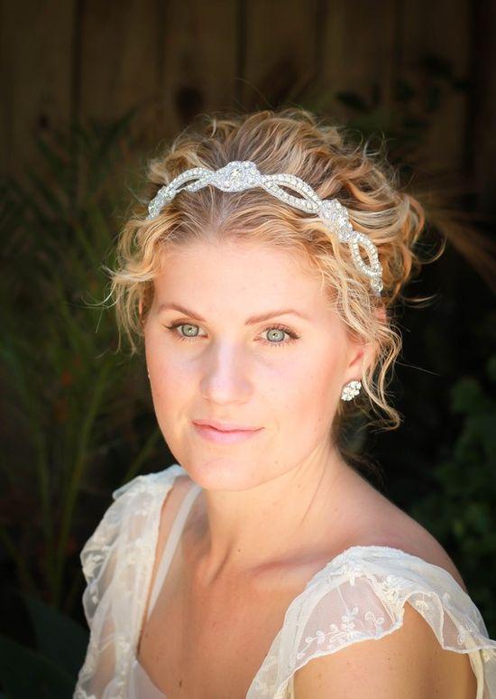 Lola  bridal headband  rhinestone headband by AmieNoelDesigns, $42.00