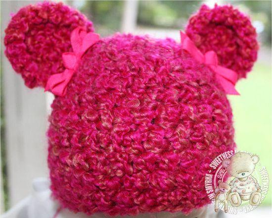 Bear Baby Hat Newborn Baby Bear Hat Crochet by SweetnessInSmyrna, $15.99