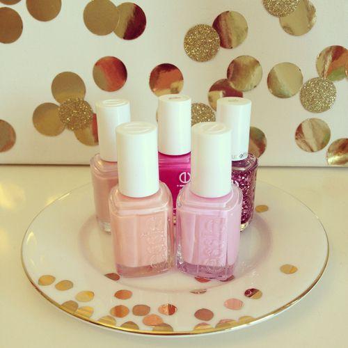essie pinks.
