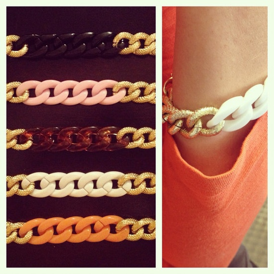 Chunky chain link bracelet by MadeByKelsey on Etsy, $10.00 Gorgeous!