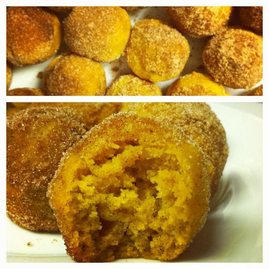 "Baked pumpkin ""doughnut holes"". Easy and delicious!"