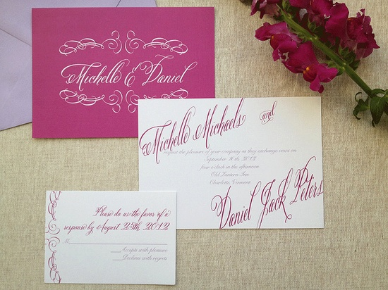 Pamper your guests with lush lettering and playfully romantic accents that set the stage for your exclusive day. Love has never been more in fashion!