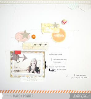 Totally Awesome * main kit layout * by marcypenner at Studio Calico