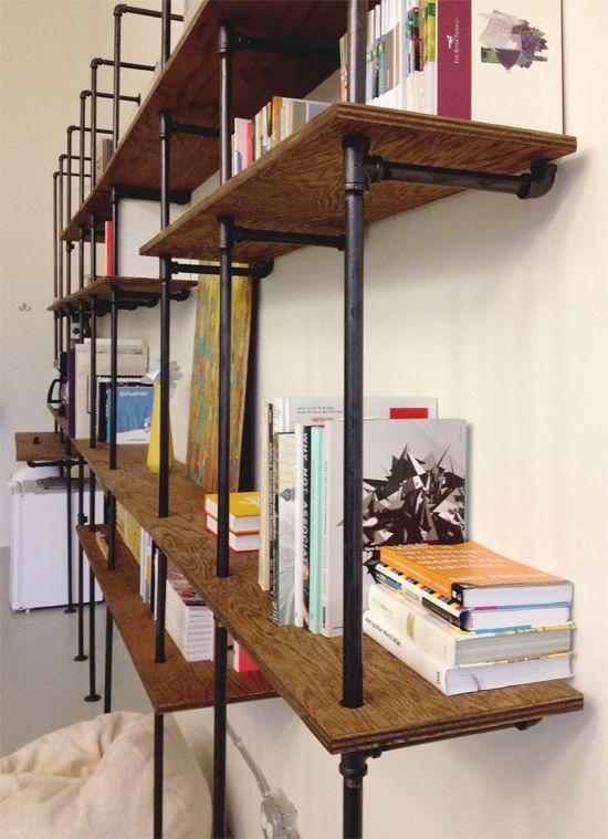pipe shelves